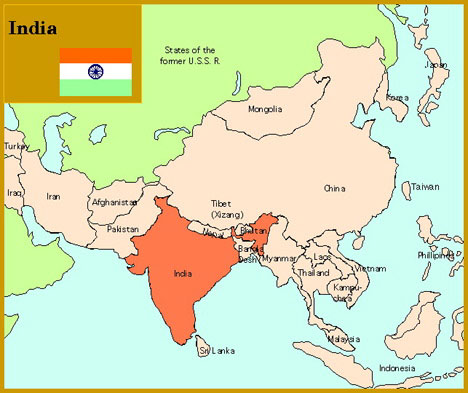 India In Asia Map.Locator Maps Of Asia By John C Huntington