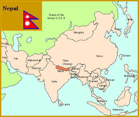 map of nepal in asia citylondonhotel